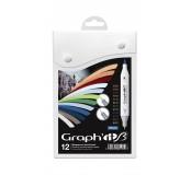Graph'it brush set oboustranných popisovačů, 12 ks - Urban