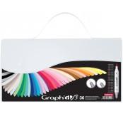Graph'it brush set oboustranných popisovačů, 36 ks - Essential