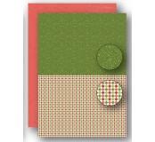 Potištěný oboustranný papír A4 Christmas Green Dots