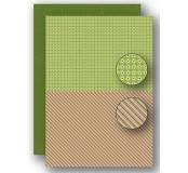 Potištěný oboustranný papír A4 Christmas Green Lines