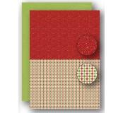 Potištěný oboustranný papír A4 Christmas Red Dots