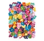 Papírové kytičky, 60 ks, mix barev