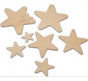 Dřevěné výřezky hvězdičky