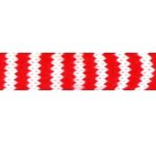 Pletená dutinka 3 cm - bíločervená