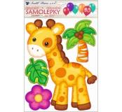 Samolepka na zeď 3D balonková - Žirafa