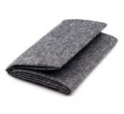 Netkaná textilie , nažehlovací, prošitá, šedá