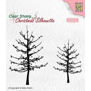 Gelové razítko - stromy bez listů
