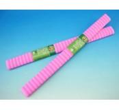 Papír krepový - růžové pruhy
