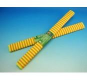 Papír krepový - žlutooranžové pruhy