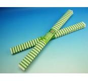 Papír krepový - zelenobílé pruhy