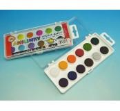 Vodové barvy anilinky - 12 barev