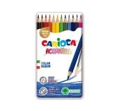 Akvarelové pastelky v plechové krabičce 12 ks