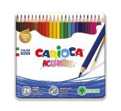 Akvarelové pastelky v plechové krabičce 24 ks