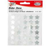 Samolepicí hvězdičky, stříbrné, 5 archů