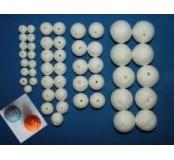 Mix vatových kuliček s dírou skrz, 50 ks