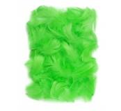 Dekorační peříčka, 5-12cm 10g, zelená