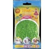 Neonové zelené korálky 1000 ks