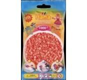 Pastelově červené korálky 1000 ks
