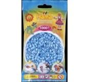 Pastelově modré korálky 1000 ks