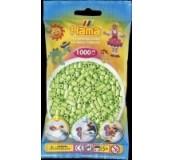 Pastelově zelené korálky 1000 ks