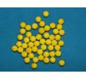 Vatová kulička, žlutá, 15 mm, 50 ks