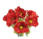 Květ Anemon, červená, 1ks