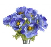 Květ Anemon, modrá, 1ks