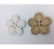 Dekorace - kytičky, přírodní, bílá, 2 ks