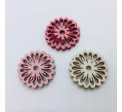 Dekorace - kytičky, červená, bílá růžová, 5 ks