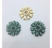 Dekorace - kytičky, krémová, šedá, zeleno-šedá , 5 ks