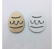 Dekorace - vajíčka, přírodní, bílá , 5 ks