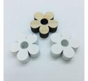 Dekorace - kytičky, přírodní, bílá, 4 ks