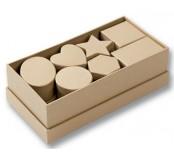 Kartonová krabička přírodní - srdíčko