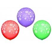 Balónek nafukovací, 10 ks, potisk kytičky