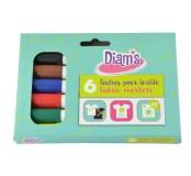 Diam's sada textilních popisovačů, 6 ks - Basic