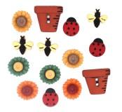 Dekorační knoflíčky Bugs a Blooms
