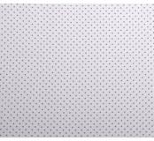 Dekorační látka - bavlna, bílá, šedý puntík