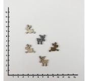 Dekorace - sob mini, 4 ks