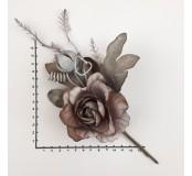 Dekorace - růže hnědá bukvice