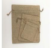 Látkový sáček - juta, 9,5 x 13,5 cm