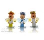Zpívající anděl na obláčku 3 ks