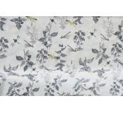 Dekorační látka - bavlna, květiny, vážky