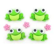 Dekorační knoflíčky Happy Frogs