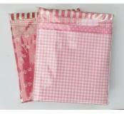 Dekorační látky, mix 4 vzory - růžová
