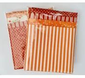 Dekorační látky, mix 4 vzory - oranžová