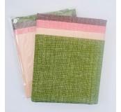 Dekorační látky, mix 4 vzory - jednobarevná vzor jeans