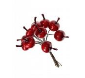 Dekorace - jablka červená, 12 ks