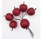 Dekorace - jablka červená, 6 ks