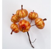 Dekorace - dýně oranžová, 6 ks