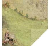 Scrapbookový papír oboustranný 1 ks, rozměr 30,5 x 30,5